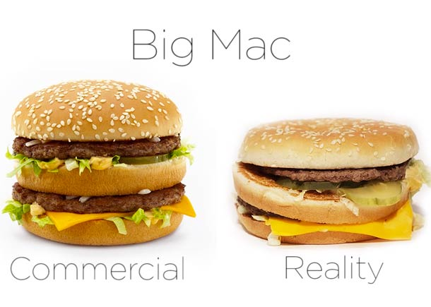 mcdonalds advertising and reality